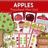 Apples Themed Preschool Math and Literacy Center