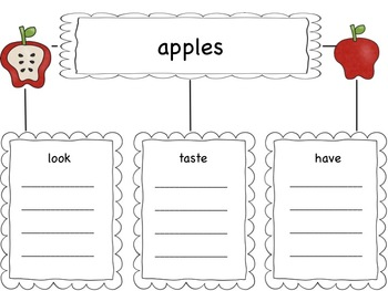 Apples Tree Map and Writing Paper
