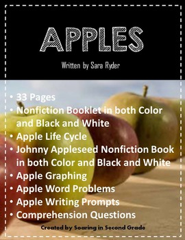 Apples Unit For Nonfiction Reading, Tall Tales, Science and Math