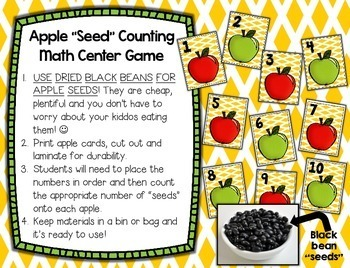 Apples Up On Top --- Apple Counting, Number Recognition and Craftivity