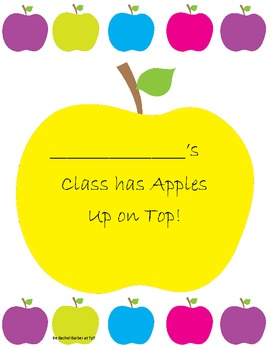 Apples Up On Top Personalized Class Counting Book