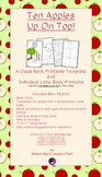 Apples Up On Top! class book and individual student book templates