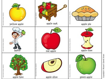 Apples WHAT DO YOU SEE Speech Therapy Book & Poster