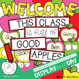 Apples Welcome and Class Names Poster Bulletin Board Set