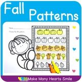 Fall Patterns Worksheets and Centers   MHS80