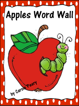 Dolch Word Wall Apples