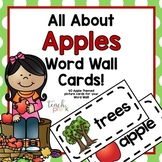 Apples!  Word Wall Cards
