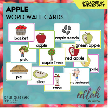 Apples Word Wall Cards (set of 5)