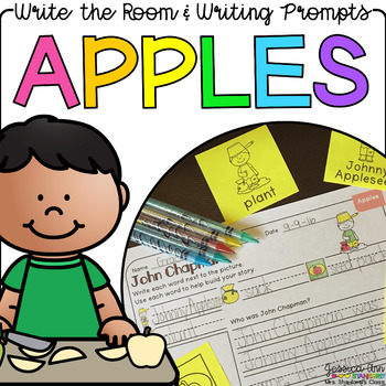 Apples  - Write the Room Writing Prompts {Print on Cardsto