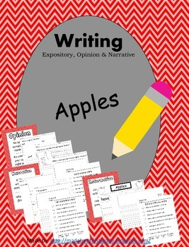 Apples Writing Informative Opinion Narrative CCSS