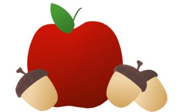Apples and Acorns Clip Art