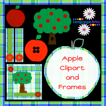 Apples and Apple Trees Clipart and Frames