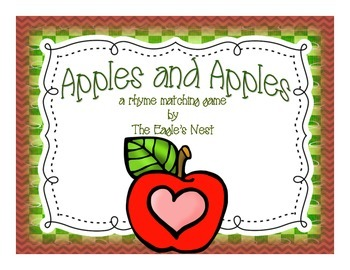 Apples and Apples--A Rhyme Matching Game