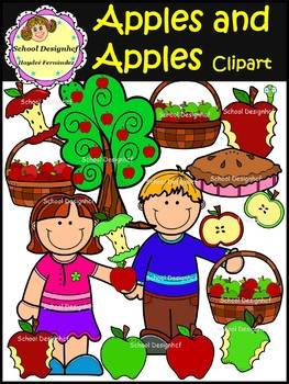 Apples and Apples Clipart (School Designhcf)