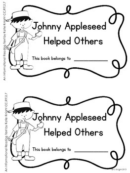 Apples and Appleseed {Informational Reading & CCSS Skills}