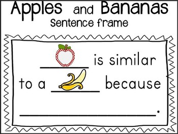 Apples and Bananas Comparison Game: Community Helpers