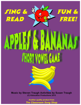 Apples and Bananas - Short Vowel Review Game, Singing My Sounds