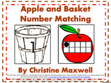 Apples and Baskets Number and Ten Frames Matching Color or
