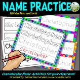 Editable Name Activities - Name Practice for Preschool and Kindergarten