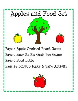 Apples and Food Set