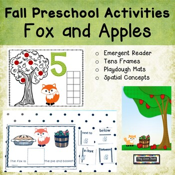 Fox and Apples Playdough Mats 1 to 10 Spatial Concepts Cards
