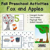 Fall Preschool Activities Adapted Reader Spatial Concepts Tens Frames
