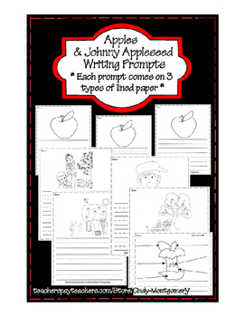 Apples and Johnny Appleseed Writing Prompts