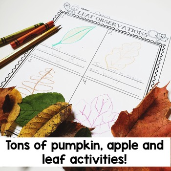Apples and Leaves and Pumpkins OH MY!  Tons of Fun Fall Activities