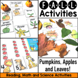 Fall Activities - Apples and Leaves and Pumpkins Fun