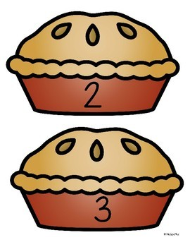 Apples and Pies Counting Center and Printables 0-10 Preschool Kindergarten