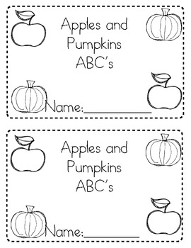 Apples and Pumpkins ABC Matching Book