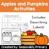 Apples and Pumpkins Activities   Sequencing, Writing, and