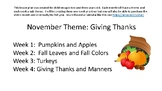 Apples and Pumpkins: Fall Themed Preschool/ Toddler Unit