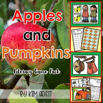 Apples and Pumpkins Literacy Game Pack