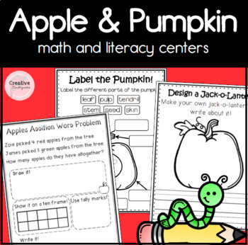 Apples and Pumpkins Math and Literacy Centers