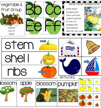 Preschool Fall Unit 3: Apples and Pumpkins Bundle of Lessons and Activities