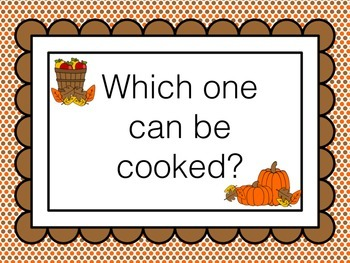 Apples and Pumpkins - Questions, Answers, and Activities