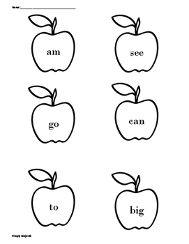 Apples and Pumpkins Rainbow Write the Room