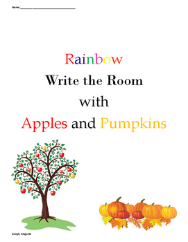 Apples and Pumpkins Rainbow Write the Room