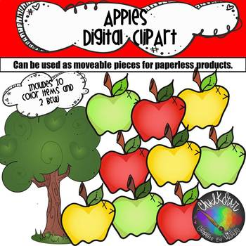 Apples and Tree Moveable PNG Graphics