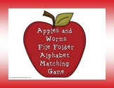 Apples and Worms Alphabet File Folder Game