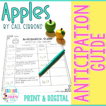 Apples by Gail Gibbons Anticipation Guide