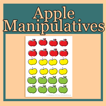 Apples for counting, sorting, graphing or patterns