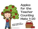 Apples for the Teacher Counting Mats & Bonus Game