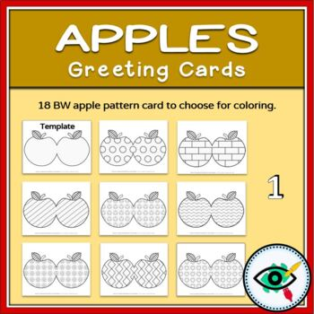 Apples greeting cards