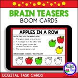 Apples in a Row Brain Teaser Logic Puzzles   Boom Cards  