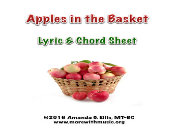 Apples in the Basket Lyric and Chord Sheet