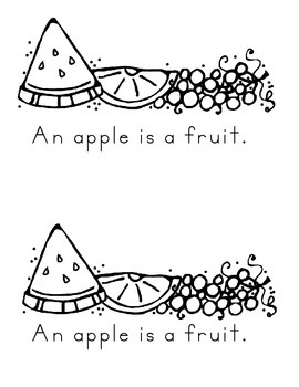 Apples-non fiction facts in a differentiated book for K or First Grade