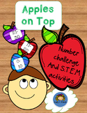 Apples to the Top Number Challenge and S.T.E.M. Activities