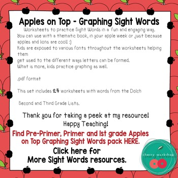 Apples on Top Sight Words Graphing